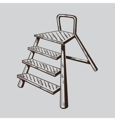 It is monochrome of ladder vector image vector image