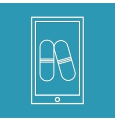 Mobile phone medical pills medicine vector