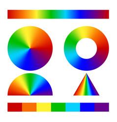 multicolor conical gradient vector image vector image
