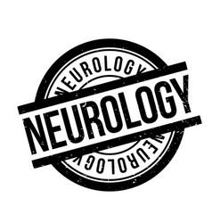 neurology rubber stamp vector image