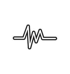 black icon on white background sound and vector image vector image