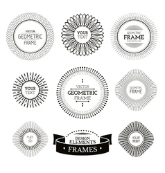 Geometric frames and labels vector image