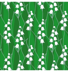 lily of the valley seamless vector image vector image