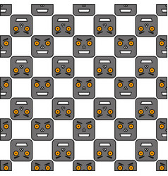 seamless pattern of robots vector image vector image