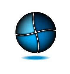 Technology abstract blue logo design template vector image vector image