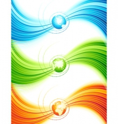 abstract design with globe illustratio vector image