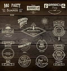 BBQ badges logos and labels for any use vector image vector image