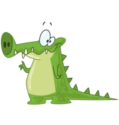 crocodile waving vector image vector image