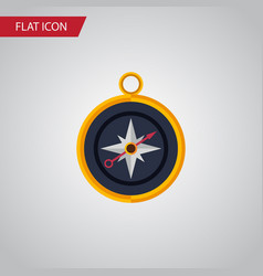 isolated compass flat icon divider element vector image vector image