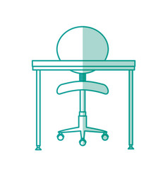 office chair and desk vector image vector image