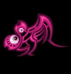 cartoon tattoo vector image vector image