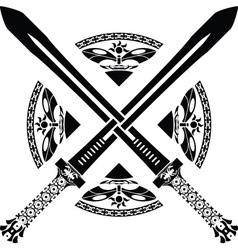 fantasy swords third variant vector image