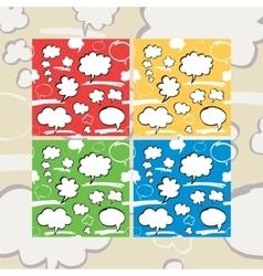 Marker Speech Bubbles Seamless Pattern Set vector image