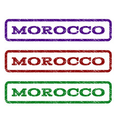 Morocco watermark stamp vector