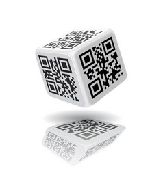 QR code cube vector image vector image
