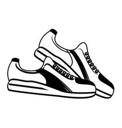 single sneaker sport shoe icon image vector image vector image