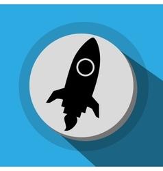 Spaceship launch icon vector image