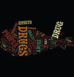 The complexity of drug abuse text background word vector