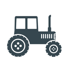 tractor black icon vector image