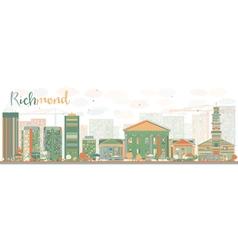 Abstract richmond virginia skyline vector