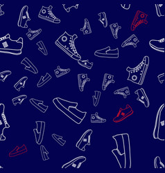 abstract running sneakers shoes seamless vector image