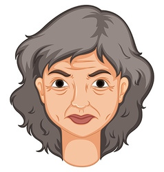 Adult woman with aged skin vector image