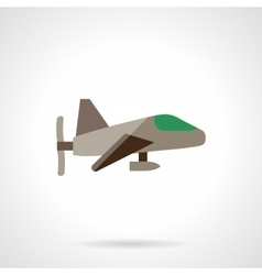 Airplane with propeller flat design icon vector