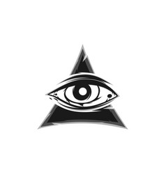All seeing eye sign symbol vector