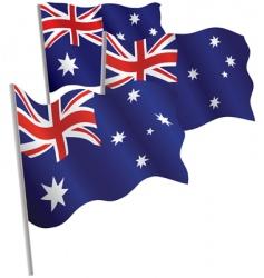 australia 3d flag vector image