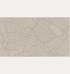 Bisque and grey background map amman city area vector