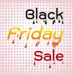 black friday sale melted design element vector image