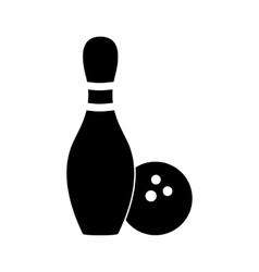 Bowling simple icon vector image vector image