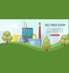 coal power station energy industry with towel vector image