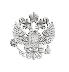 Coat arms russia vector
