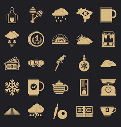 Coffee making icons set simple style vector