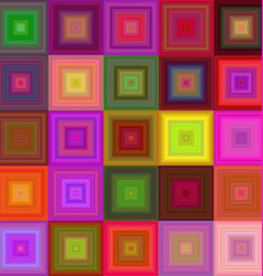 Colorful square mosaic background design vector