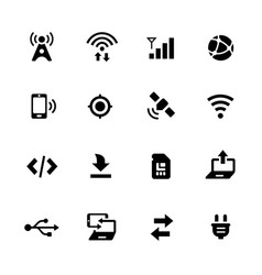connectivity icons vector image vector image