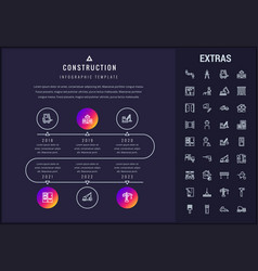 construction infographic template and elements vector image
