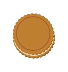 cookie dessert cute sweet food icon vector image vector image
