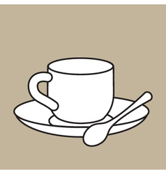 Cup With Teaspoon vector image
