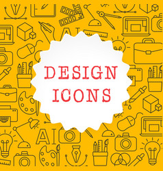 design outline icons set vector image