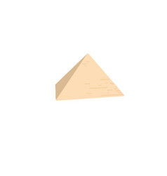 egyptian pyramid in giza famous architectural vector image