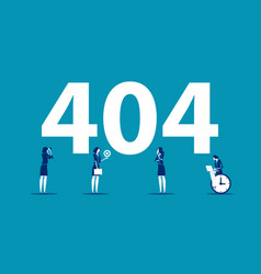 error 404 page concept business vector image