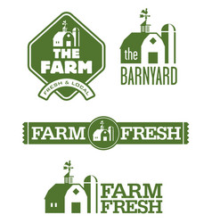 Farm and barn logos vector