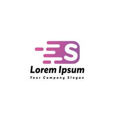 Fast letter s logo icon design vector