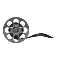 Film icon gray monochrome style vector image