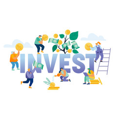 financial profit investment income concept vector image