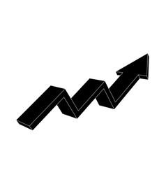 Financial trend up rising indication arrow black vector