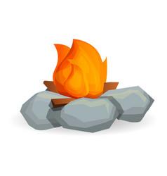 flame campfire icon cartoon style vector image