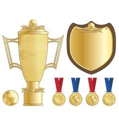 Football trophy vector